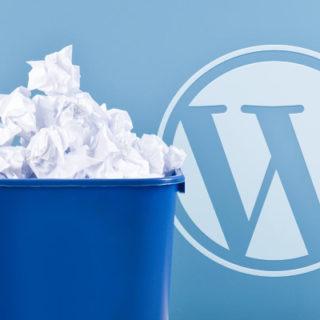 WordPress Papierkorb deaktivieren und leeren